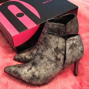 Michael Antonio Pewter Snake Booties in size 8 1/2